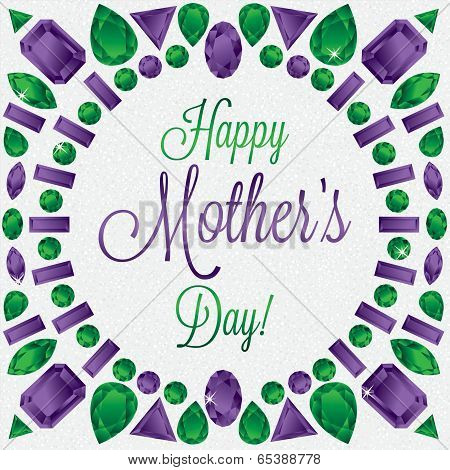 Mother's Day Gem Card In Vector Format. poster
