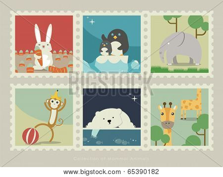 Stamps of mammal animal