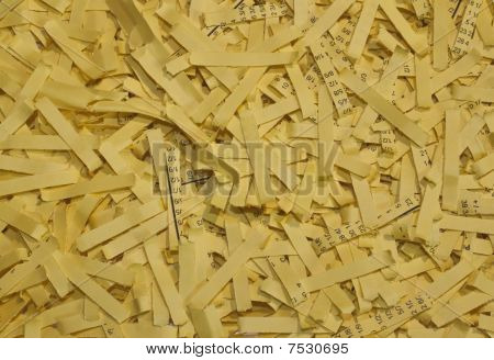 Yellow Shredded Paper As A Background