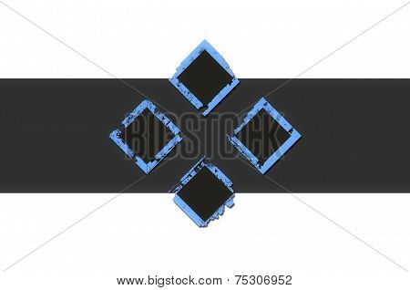 Blue Geometric Grunge Background