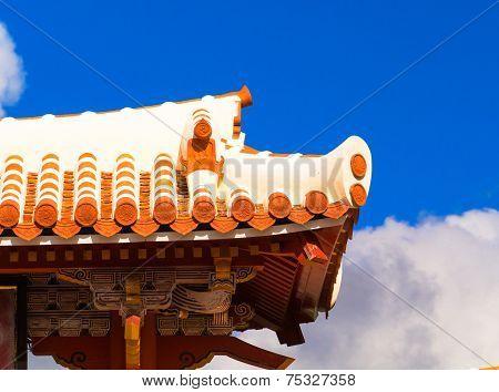 Stucco Roof of Shurei Gate