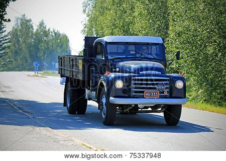 Classic Volvo N84 Pickup Truck On The Road