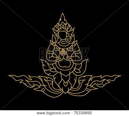 Gold Angel Thai Art