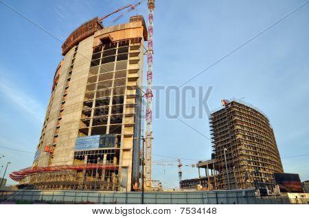 Modern Buildings Contruction Yard
