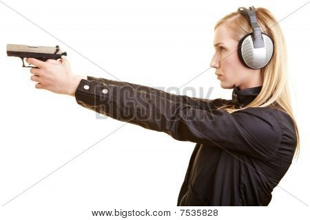 Woman On A Shooting Range