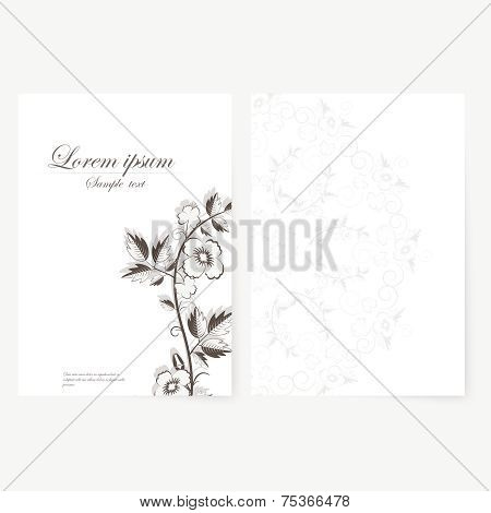 poster of Vector template for folder, brochure, business card and birthday invitation.