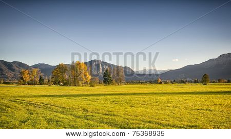An image of an autumn scenery in bavaria germany