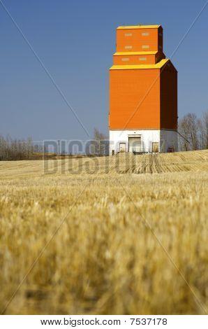 Grain Elevator On The Canadian Prairies