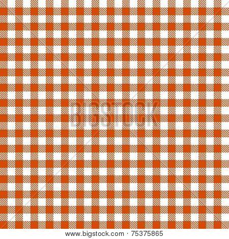 Checkered Tablecloths Pattern - Endless - Orange