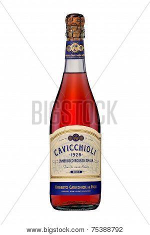One Bottle Of Sparkling Wine Lambrusco Rosato Emilia Dolce