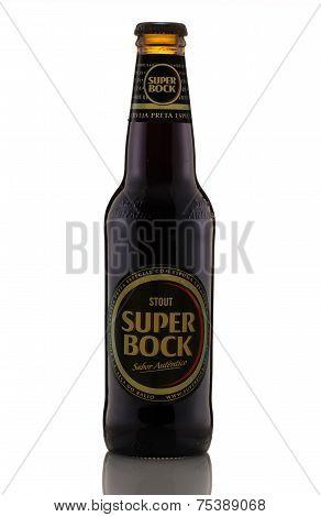 One Bottle Of Black Beer Super Bock Stout