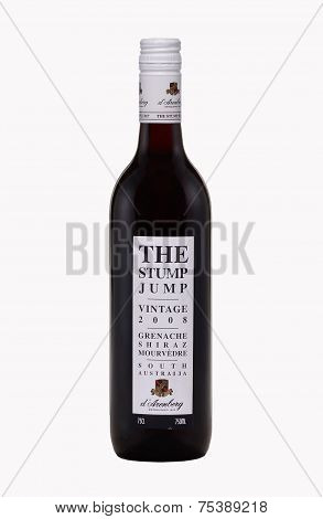 One Bottle Of Dry Red Wine The Stump Jump Vintage 2008