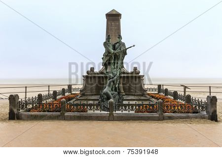 Anti Slavery Monument In Blankenberge, Belgium
