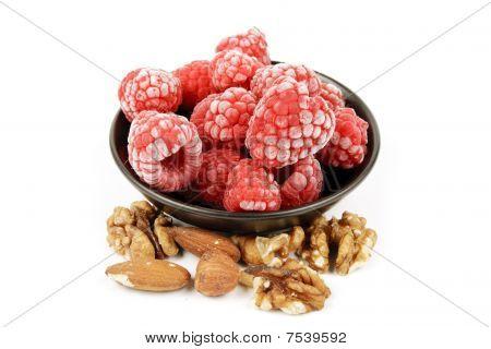 Frozen Raspberries And Nuts