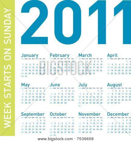 Blue Calendar 2011