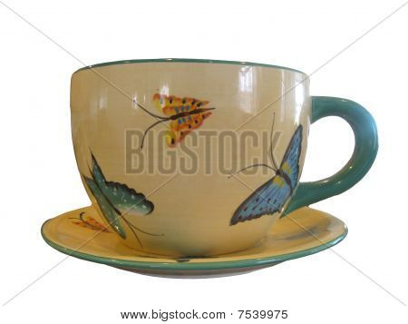 Large Butterfly Teacup