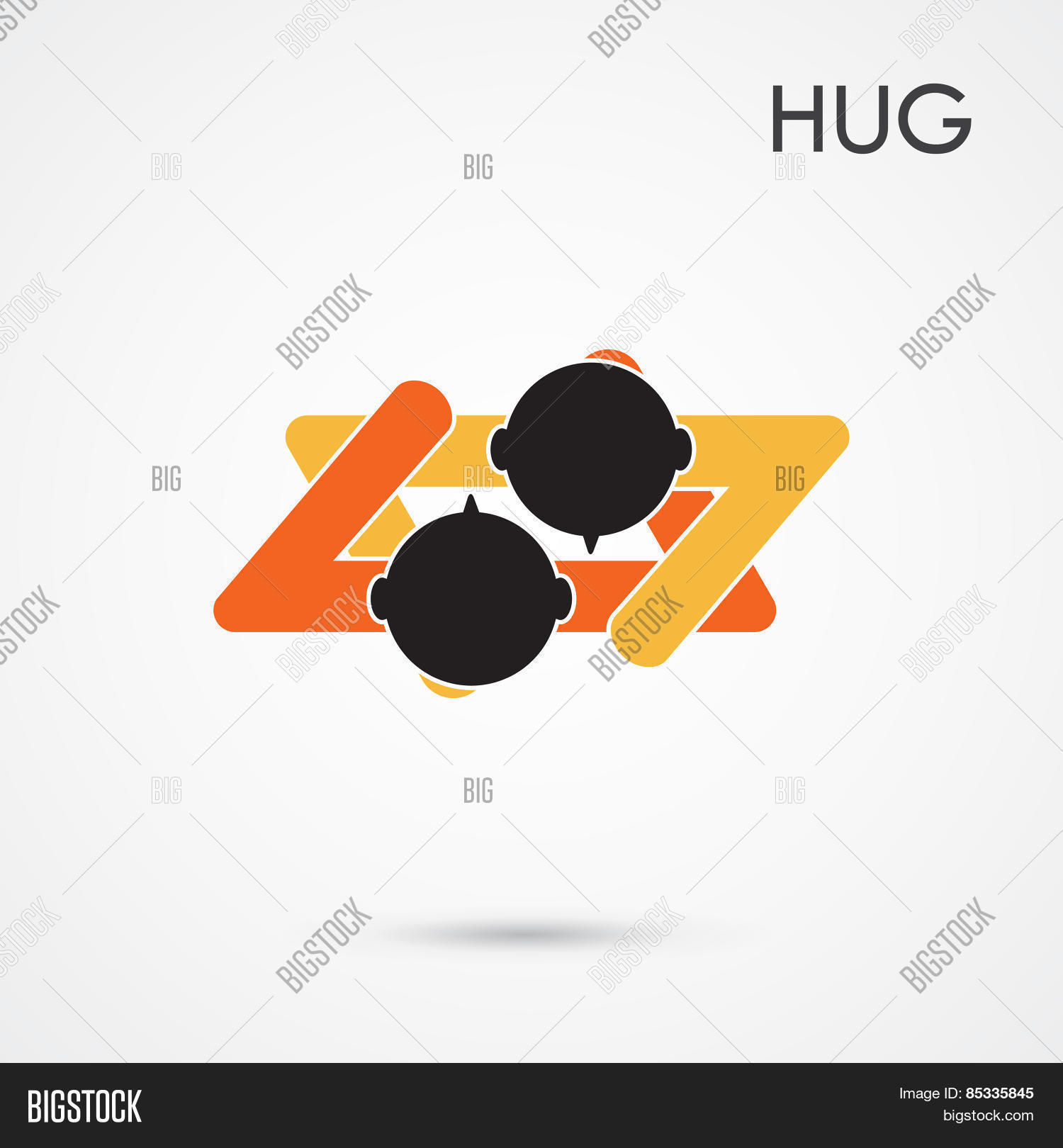 Abstract Hug Symbol Vector Photo Free Trial Bigstock