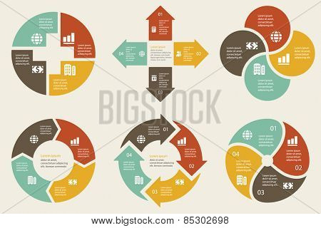 Vector infographic. Template for cycle diagram, graph, presentation, round chart, website, corporate brochure, advertising and marketing