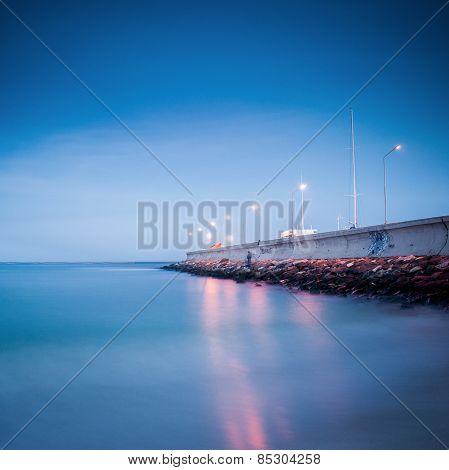 Pier on the Black Sea