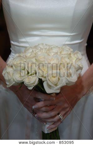 Bouquet at waist