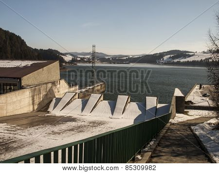Hydropower Station On Czorsztynski Lake. Czorsztyn