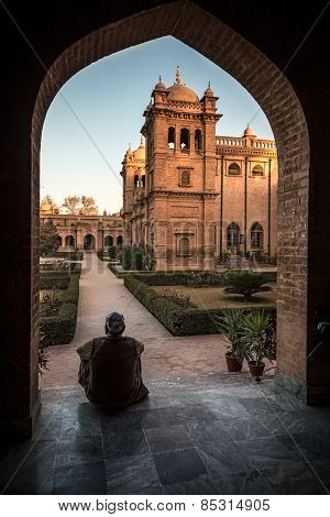 Historic building of islamia College Peshawar one of the oldest college in Khyber Pukhtunkhuwa Province Pakistan. poster