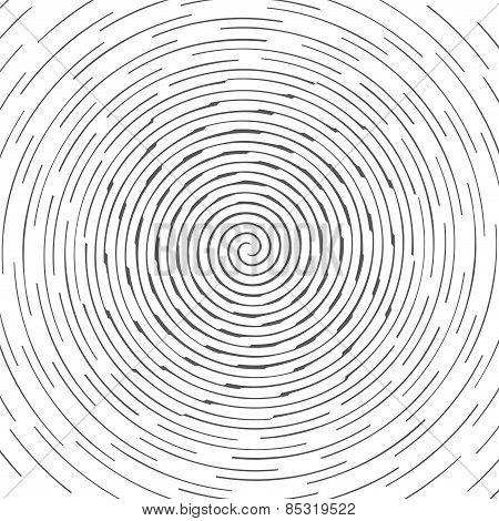 Abstract spiral design pattern. Circular, rotating background, vector illustration