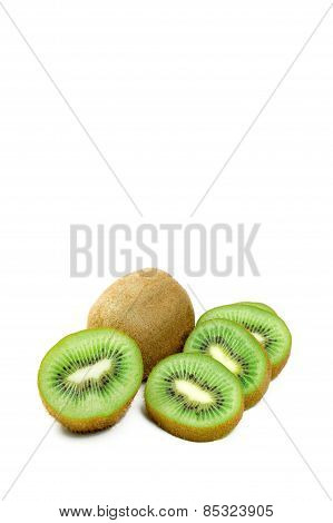 Fresh Kiwi On White Background