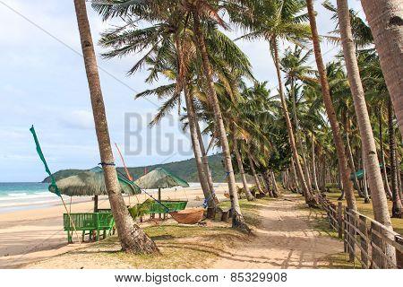 Beach Of Nacpan, Palawan, Philippines