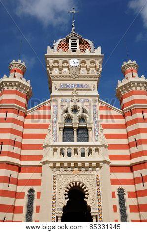 France, The Facade Of La Chapelle Algérienne In L Herbe