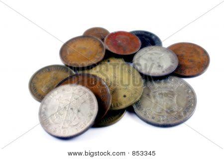 Monedas antiguas del africano del sur