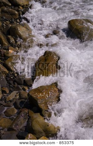 Wave, sparks and stones