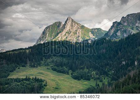Giewont mountain panorama