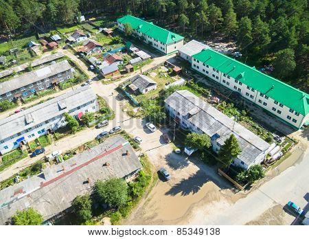 Bird's eye view of housing estate in Vinzili