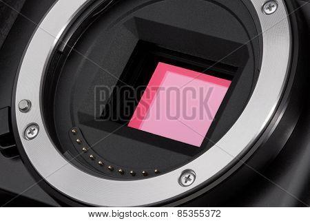 Closeup of camera image sensor