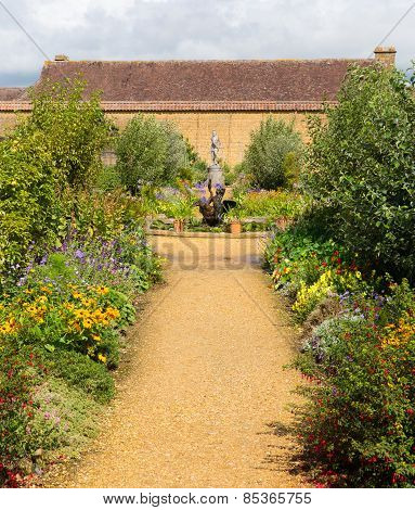 Gardens Barrington Court near Ilminster Somerset England uk Tudor manor house