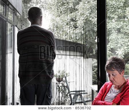 Elderly Couple in Dispute / Desperate