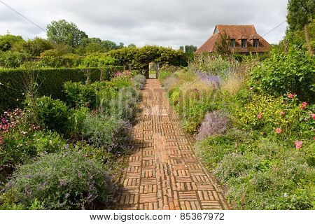 Grounds of Barrington Court near Ilminster Somerset England uk Tudor manor house