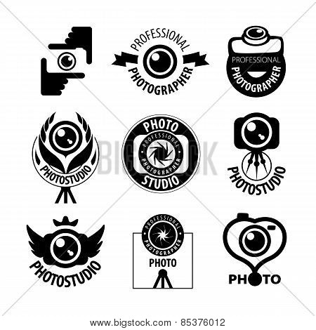 Big Set Of Vector Icons For Professional Photographer
