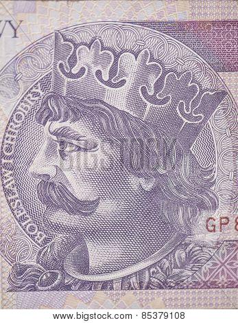 King Of Poland, Boleslaw Chrobry On The 2O Polish Zloty Bill