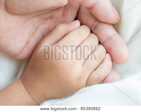 Parent And Daughter Holding Hand