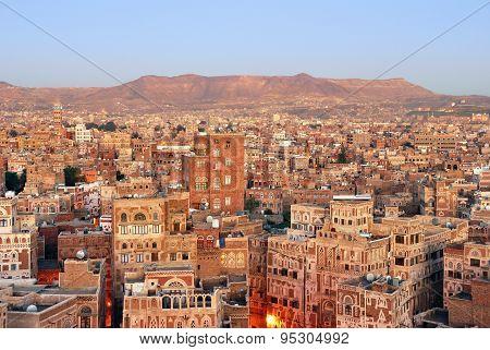 Yemen. Sunrise In Sanaa