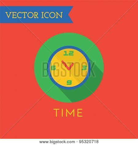 Clock Icon Vector Icon. Sound, tools or Dj and note symbols. Stock design element.