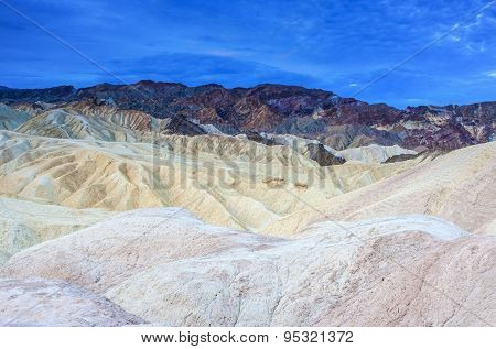 Zabriskie Point National Park Located In Death Valley, California, United States Of America