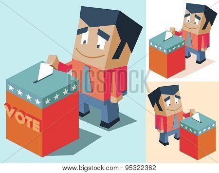 election day set. vector illustration poster