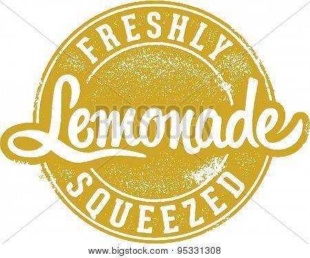 Freshly Squeezed Lemonade Stamp