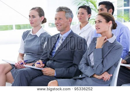 business team during a meeting in the office