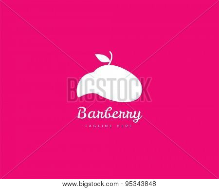 Abstract vector element. Barber shop or salon logo template. Stock illustration for design