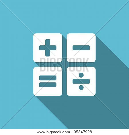 calculator flat icon calc sign original modern design flat icon for web and mobile app with long shadow
