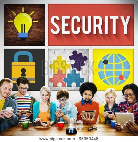 Security System Networking Privacy Protection Concept poster